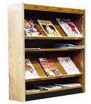 48''H Magazine Shelving Adder w/3 Shelves [LSM12-5-48A-HEL]