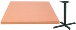 24'' x 48'' Laminate Table Top with Self Edge and Base - Standard Height [ATE2448-T2430M-SAT]