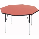 Adjustable Height Octagonal Laminate Top Utility Table - 48'' Diameter [A48-OCT-CRL]