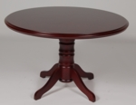 48'' Wood Veneer Round Conference Table in Mahogany Finish [984MH-FS-FDG]