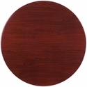 48'' Round Mahogany Resin Table Top