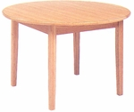 48'' Round Wooden Oak Library Table [LF-48R-GCC]
