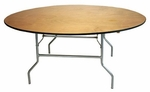 Round Plywood Folding Table - 48''W [TABPLY48RD-AS]
