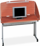 24.50'' D x 49'' W Modular Study Carrel - Cherry Finish [55102-CHY-MFO]