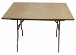 48'' Rental Elite Series Square Folding Table with Non Marring Floor Glides - 48''W x 48''L x 30''H [205201-MES]