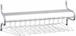 49'' W x 14'' D x 19'' H Shelf Rack with Twelve Non-Removable Hangers - Chrome [4164-FS-SAF]