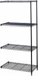 48'' W x 18'' D x 72'' H Industrial Add On Unit - Black [5292BL-FS-SAF]