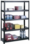 48'' W x 18'' D x 72'' H Boltless Extra Strength Shelving with Durable Powder Coat Finish - Black [5246BL-SAF]
