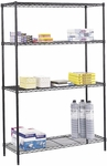 48'' W x 18'' D Commercial Wire Shelving - Black [5241BL-FS-SAF]