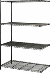 48'' W x 24'' D x 72'' H Industrial Add On Unit - Black [5295BL-FS-SAF]