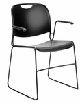 Set of Four 4800 Series Stack Chair with 310lb. Weight Capacity [FE02-UC]