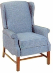 4818 Recliner: 2 Position Push Mechanism with Upholstered Spring Back & Seat with Chippendale Legs - Grade 2 [4818-GRADE2-ACF]