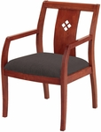 4900 Series Wood Frame Guest Armchair with Laser Cut Diamond Back and 3'' Upholstered Web Seat [DB4921-IFK]