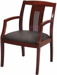 4900 Wood Frame Guest Armchair with Laser Cut Line Back and 3'' Upholstered Web Seat [SB4921-IFK]