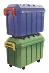 4 Pack of 18 Gallon Stackable Mobile Storage Trunks in Assorted Colors [ELR-0167-ECR]