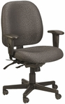 4x4 Mid Back 29.5'' W x 26'' D x 37'' H Adjustable Height Multi Function Fabric Task Chair - Charcoal [49802A-H5511-FS-EURO]