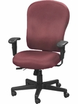 4x4 XL High Back 29'' W x 26'' D x 40.5'' H Adjustable Height Multi Function Fabric Task Chair - Burgundy [FM4080-AT31-FS-EURO]