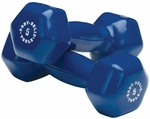 5 lb Pair Vinyl Dumbbells-Blue [BSTVD5PR-FS-BODY]