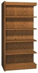 5-Shelf Double Sided Bookcase Adder [VS3564-A-IRO]