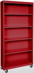 Elite Series 36'' W x 18'' D x 78'' H Five Shelf Mobile Bookcase - Red [BM40-361872-01-EEL]