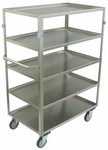 5 Shelf Stainless Steel 54'' H Cart with Shelf Lips Up [ZY236-U5-AS-JAM]