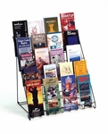 5 Tier Counter Display - Black - 18.5''W X 12''D X 18.5''H [18-5CD-FS-RW]
