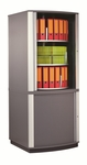 Moll 5 - Tier 2 LockFile Rotating Carousel Storage Cabinet - Gray [LF5-FS-EOS]