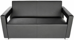 Distinct Soft Seating Sofa with Chrome Feet - Black [832-PU606-FS-MFO]