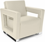 Distinct Soft Seating Lounge Chair with Chrome Feet - Cream [831-PU609-FS-MFO]
