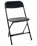 500 lb. Max Black with Black Frame Poly Performance Folding Chair [MP101-BLACK-CSP]