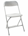 500 lb. Max White Poly Performance Folding Chair [MP101-WHITE-CSP]