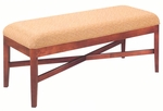 500 Luggage Bench w/ Exposed Wood Rail & Upholstered Seat - Grade 2 [500-GRADE2-ACF]
