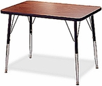 5000 Series Rectangular Activity Table with Height Adjustable Legs - 24''W x 36''D [1206F-AMD]