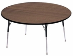 5000 Series Round Activity Table with Height Adjustable Legs - 36''D [5082-AMD]