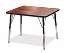 5000 Series Square Activity Table with Height Adjustable Legs - 30''L X 30''W [5007-AMD]