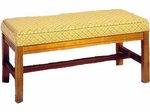 501 Luggage Bench: Wood Rail Upholstered Seat w/ Chippendale Legs - Grade 1 [501-GRADE1-ACF]