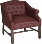 5025 Lounge Chair: Chippendale Legs, Upholstered Spring Button Back & Seat - Grade 1 [5025-GRADE1-ACF]