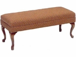 506 Bench w/ Upholstered Web Seat & Queen Anne Legs - Grade 1 [506-GRADE1-ACF]