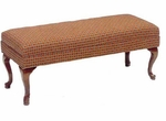 506 Bench w/ Upholstered Web Seat & Queen Anne Legs - Grade 2 [506-GRADE2-ACF]