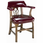 5125 Bankers Chair with Upholstered Back & Spring Seat - Grade 2 [5125-GRADE2-ACF]