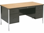 540 Series Traditional Double Pedestal Teachers Desk - 60''W x 30''D x 30''H [546-VCO]