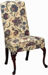 5450 Side Chair: Upholstered Spring Back & Seat with Queen Anne Legs - Grade 1 [5450-GRADE1-ACF]