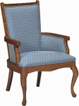 5630 Upholstered Lounge Chair w/ Exposed Wood - Grade 1 [5630-GRADE1-ACF]