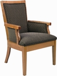 5635 Upholstered Lounge Chair w/ Exposed Wood - Grade 1 [5635-GRADE1-ACF]