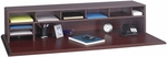57.5'' W x 12'' D x 12'' H Low Profile Desk Top Organizer with Adjustable Shelves - Mahogany [3671MH-FS-SAF]
