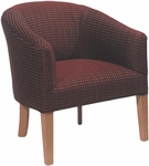 5802 Fully Upholstered Lounge Chair w/ Wood Tapered Leg - Grade 1 [5802-GRADE1-ACF]
