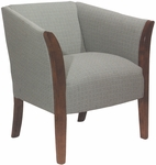 5803 Upholstered Lounge Chair w/ Wood Trim Arms - Grade 1 [5803-GRADE1-ACF]