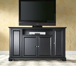 59.75''W TV Stand in Black Finish with Alexandria Style Feet [KF10001ABK-FS-CRO]