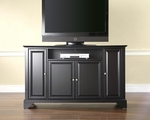 59.75''W TV Stand in Black Finish with LaFayette Style Feet [KF10001BBK-FS-CRO]