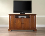 59.75''W TV Stand in Classic Cherry Finish with LaFayette Style Feet [KF10001BCH-FS-CRO]